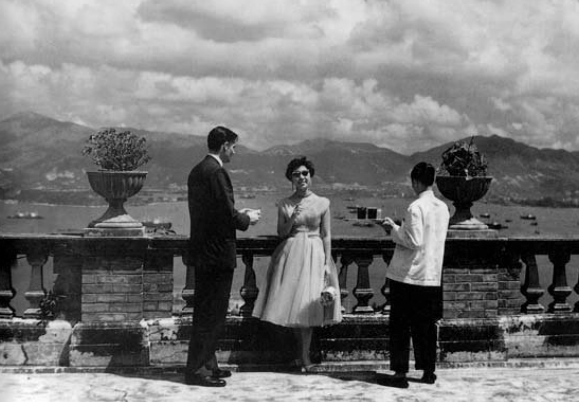 The view from the terrace of 41A Conduit Road in the mid-Fifties.