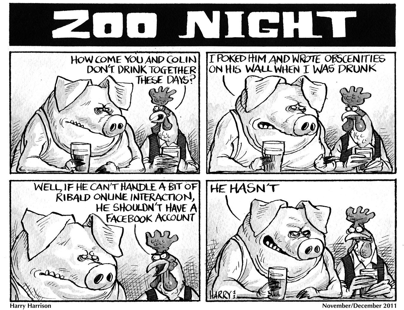 Nov-Dec 2011 Zoo Night Harry Harrison