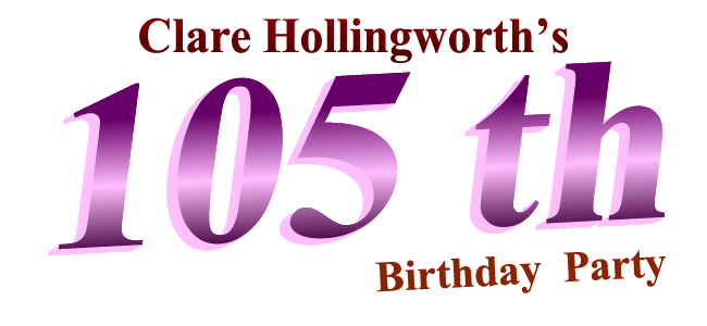 Clare Hollingworth's 105th Birthday Party