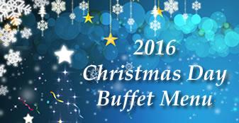 2016 Christmas Day Buffet Menu