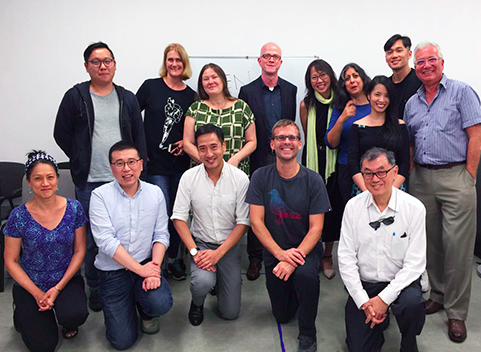 Some of the founding members of PEN Hong Kong in September 2016. Photo: PEN