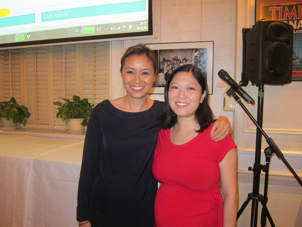 Juliana Liu, right, with Angie Lau.