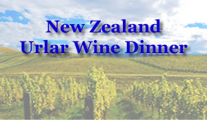 New Zealand Urlar Wine Dinner