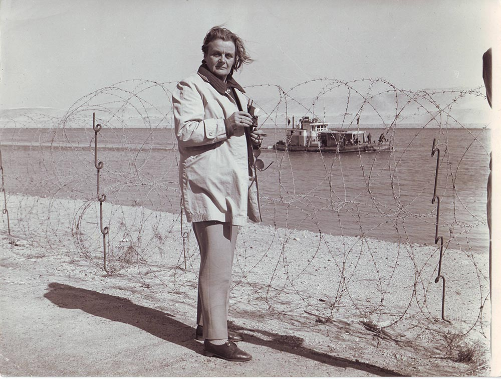 Clare on assignment in Palestine in the mid-1960s.