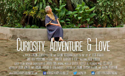The film poster for Curiosity, Adventure and Love.