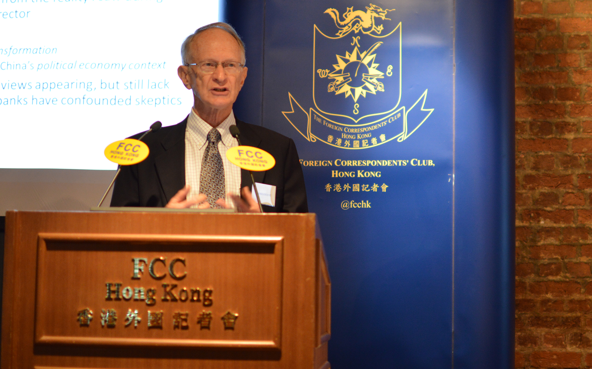James Stent, a former director of the audit committee of the China Everbright Bank. Photo: Sarah Graham/FCC