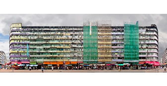 Wall Exhibition: Hong Kong's Disappearing Tong Lau: A Panoramic Perspective by Stefan Irvine