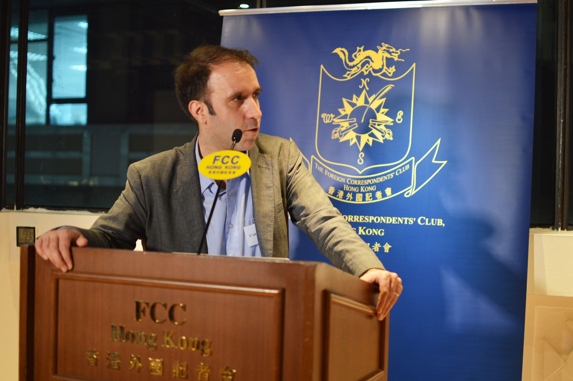 José Carlos Matias spoke about press freedom in Macau on January 18, 2018. Photo: Sarah Graham/FCC