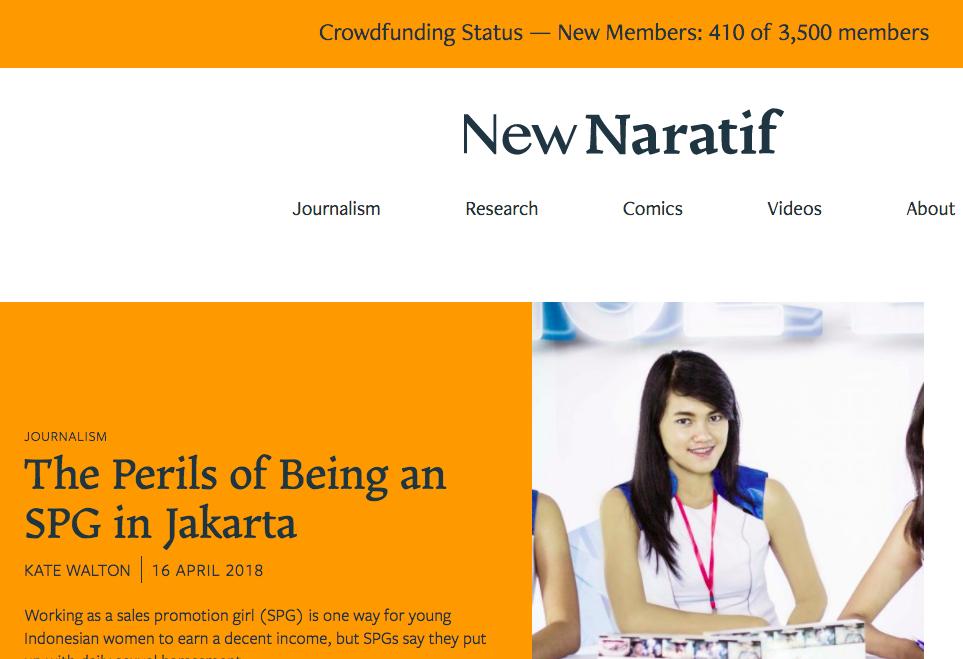 New Naratif website.