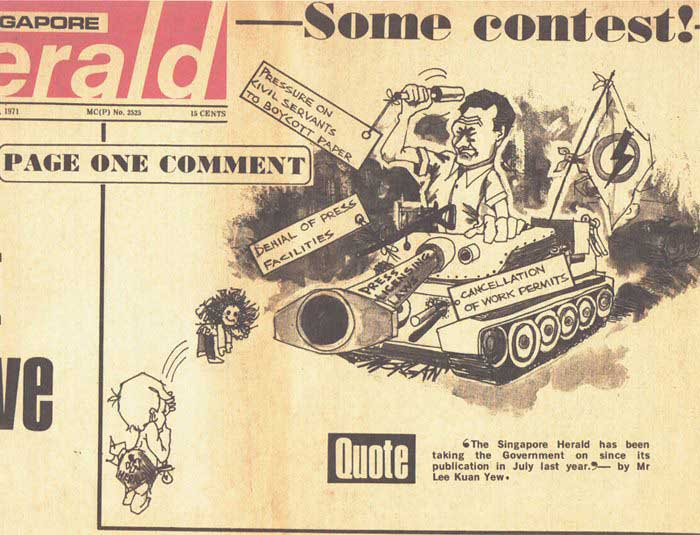 Final issue of the Singapore Herald, 1971