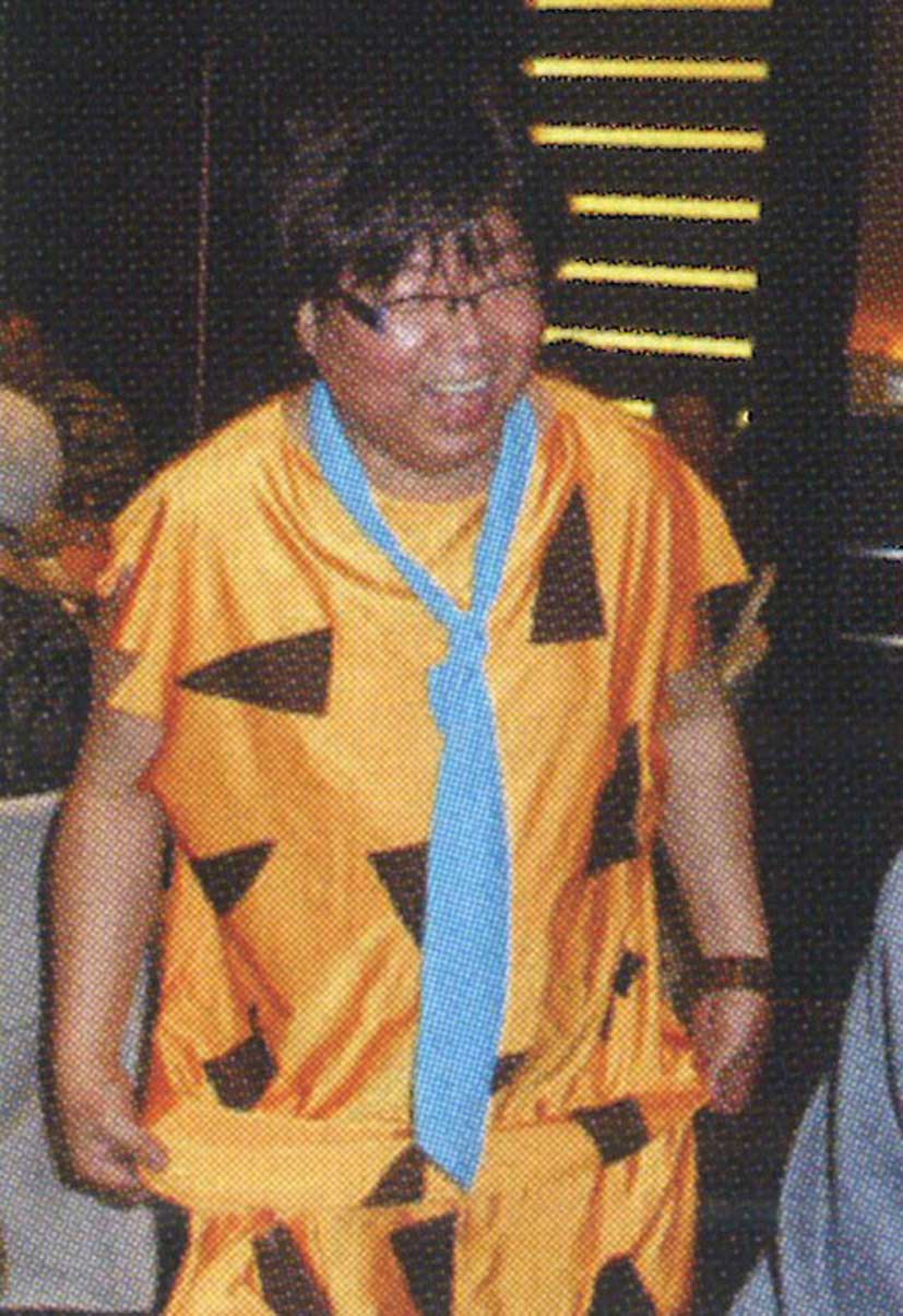 2009: Gilbert attended the annual staff party at Hong Kong Convention and Exhibition Centre as Fred Flintstone.