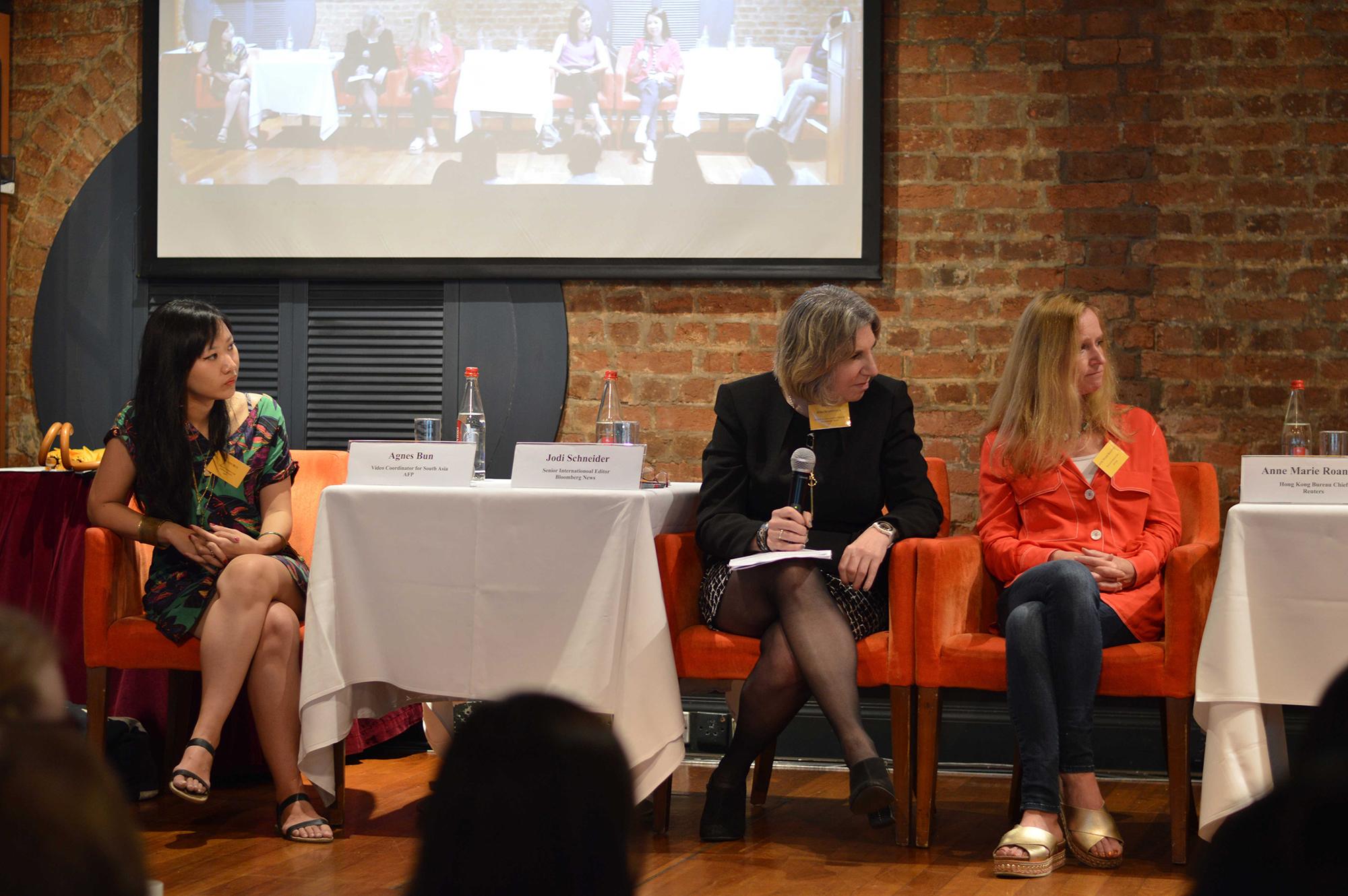 From left, Agnès Bun, Jodi Schneider, Ann Marie Roantree