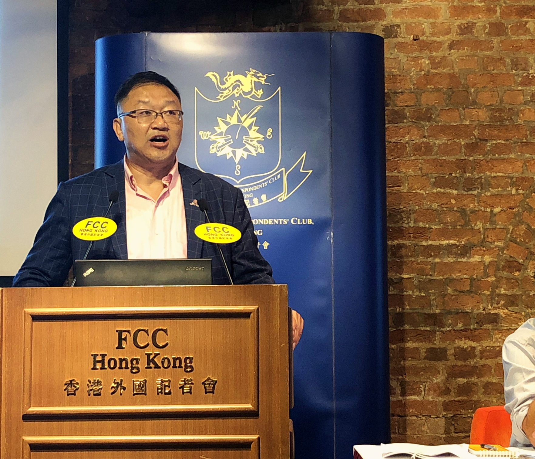 Professor Kam-Fai Wong gave a glimpse of the future at the FCC. Photo: Sarah Graham/FCC