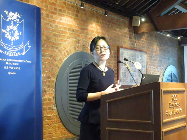 "Professor Yuen Yuen Ang talked about the ""real"" China model. Photo: FCC"