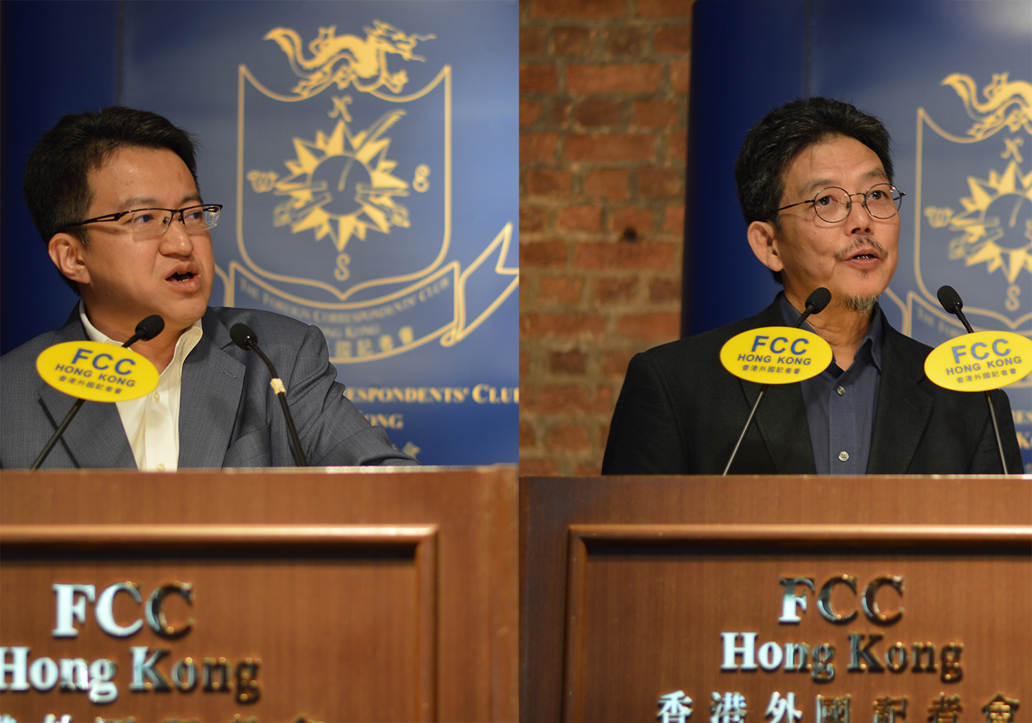 Left: Malaysia's Deputy Defence Minister Liew Chin Tong, and right, Penang Institute's Executive Director, Ooi Kee Beng, discussed the country's politics at the FCC. Photo: Sarah Graham/FCC