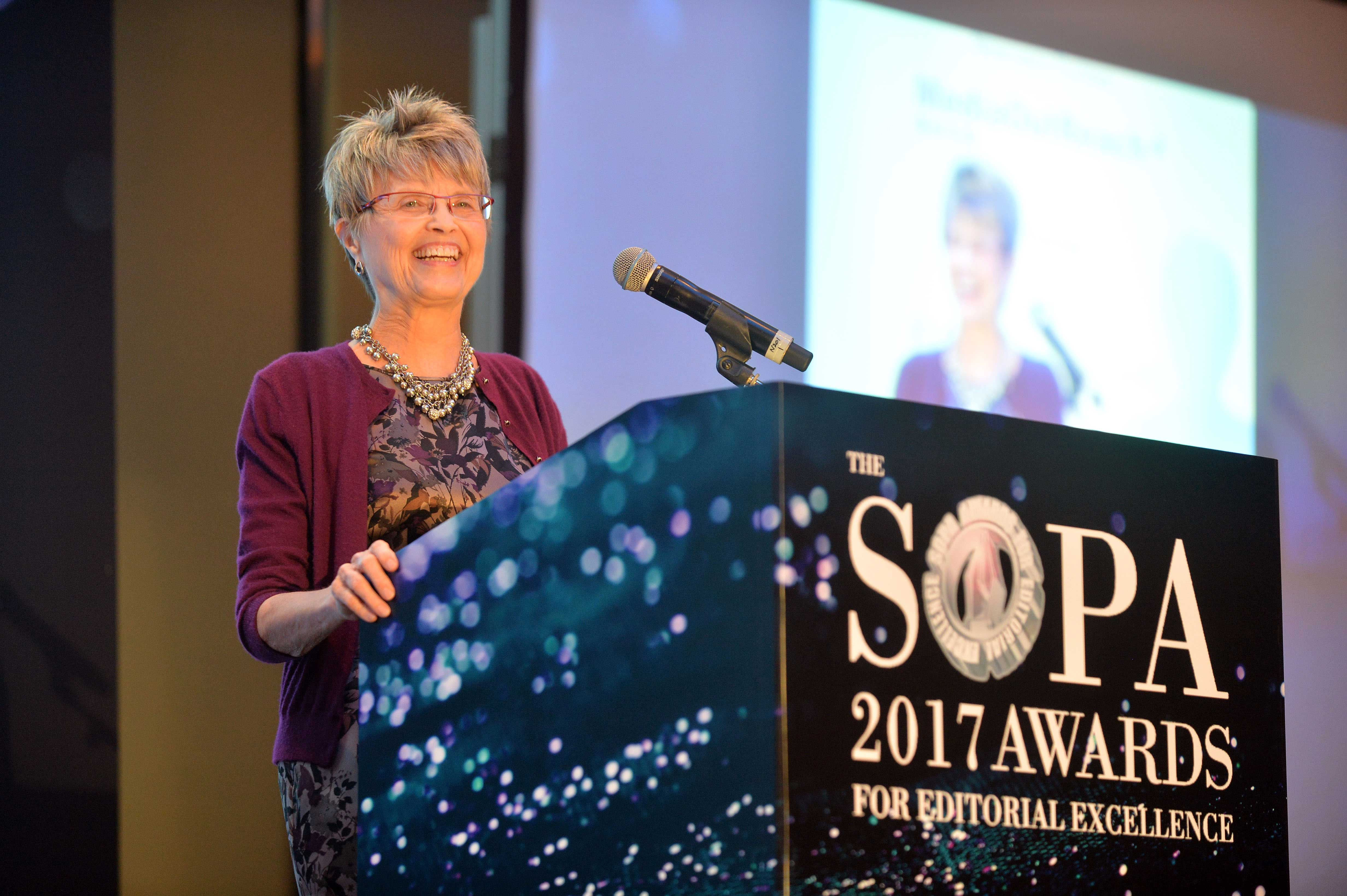 SK Witcher at the 2017 SOPA Awards.