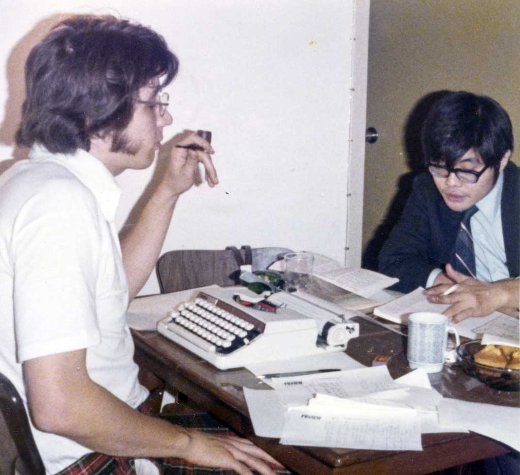 Susumu with the writer of this obituary, Tracy Dahlby, in the 1970s