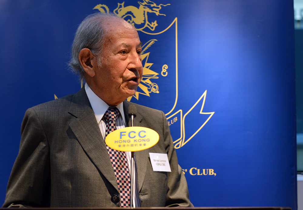 Former Court of Appeal judge Henry Litton launches his new book at the FCC. Photo: Sarah Graham/FCC