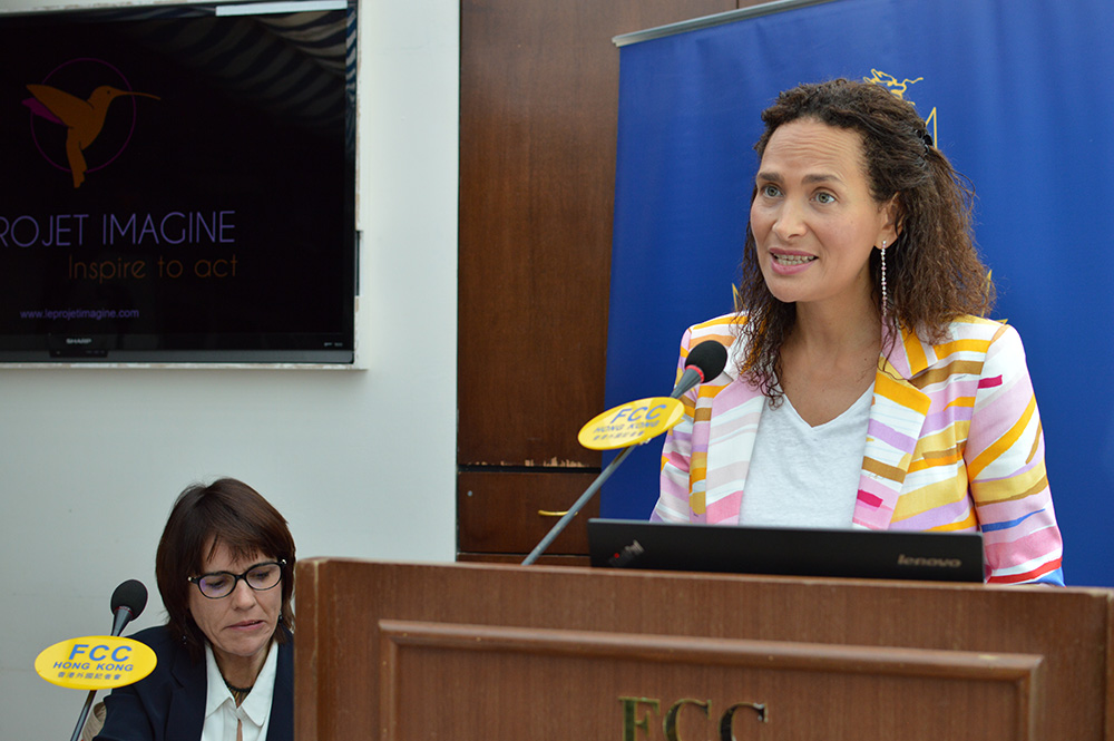 Frédérique Bedos believes that a positive message can be disseminated through the media. Photo: Sarah Graham/FCC