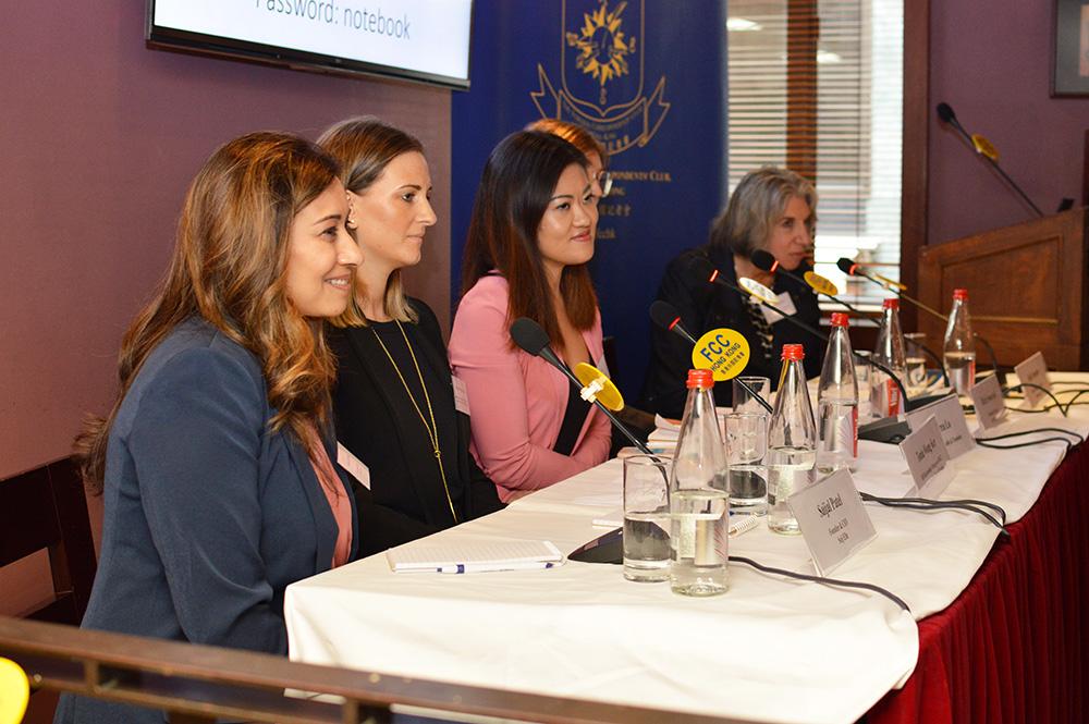 L-R: Saijal Patel, Tonia Wong Kee, Andrea Lo, Marie Swarbreck and Jodi Schneider. Photo: Sarah Graham/FCC