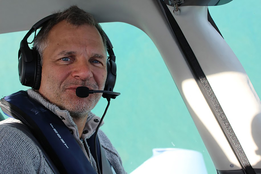Paul Gunnell in his beloved Cirrus SR22, en route from Guernsey to Normandy for lunch.