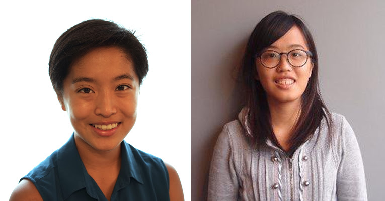 Mary Hui, left, and Jessica Pang.