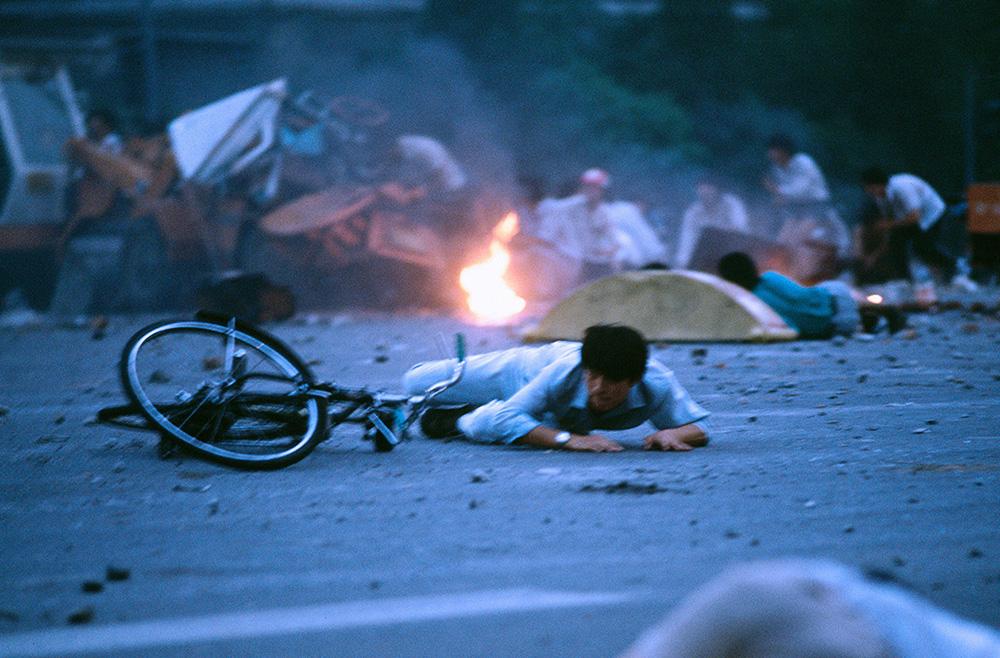June 4, near Tiananmen Square, probably West ChangAn Avenue CREDIT: JACQUES LANGEVIN