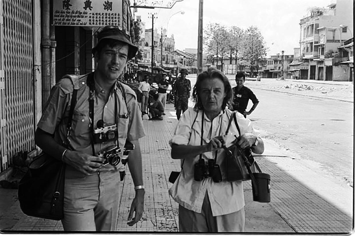 Clare and Tim Page in Saigon during the Vietnam War in the early 1970s