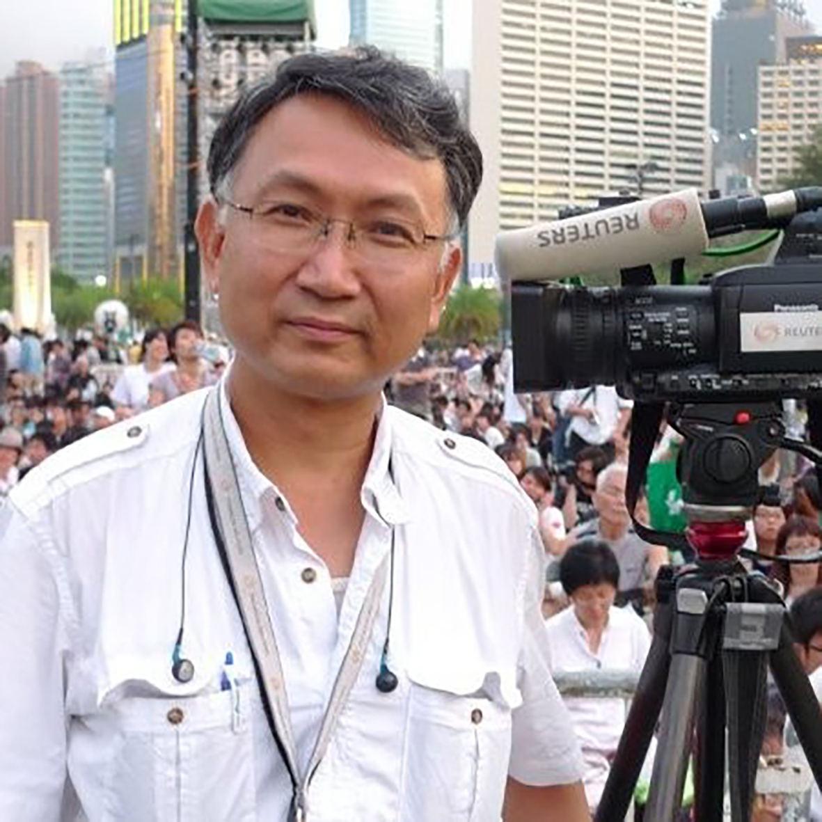 Cameraman and journalist Gary Ling Wah-kee.