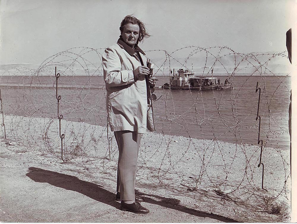 Clare on assignment in Palestine in the mid-1960s