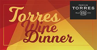 Torres Wine Dinner with innovative Spanish cuisine