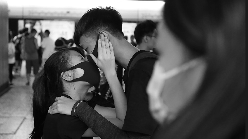 'In that kiss we were all reminded of a shared humanity'. Photo: James Pomfret