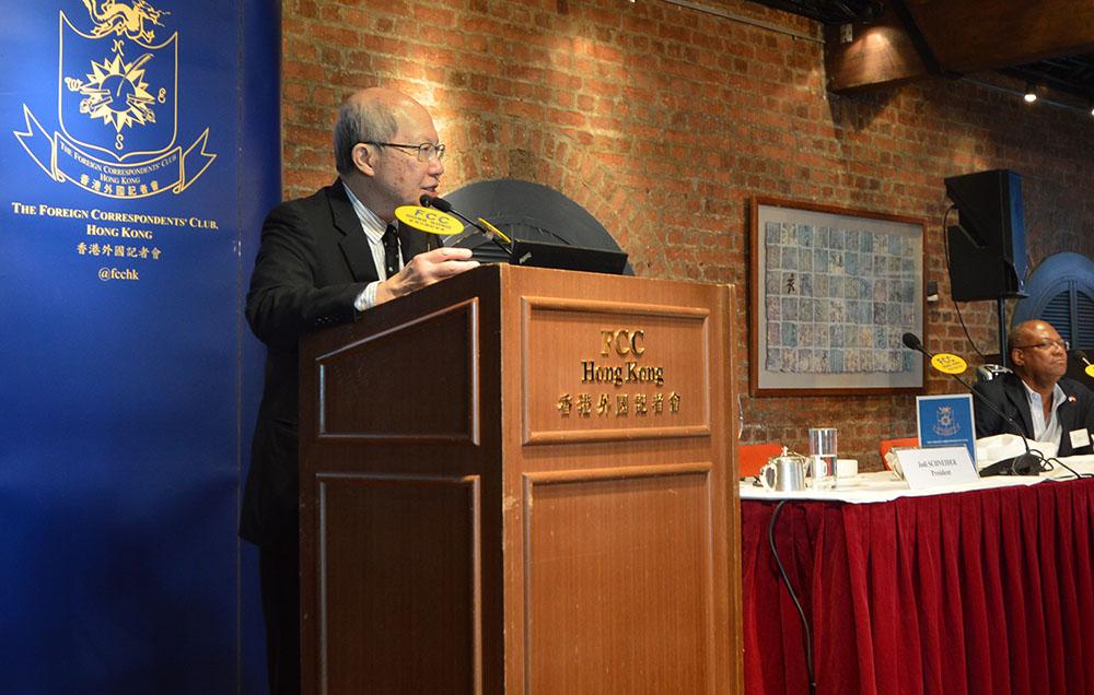 Professor Willy Lam at the FCC. Photo: Sarah Graham/FCC