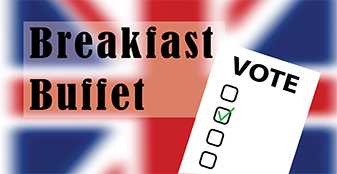 Breakfast Buffet - Live Results of the British General Election