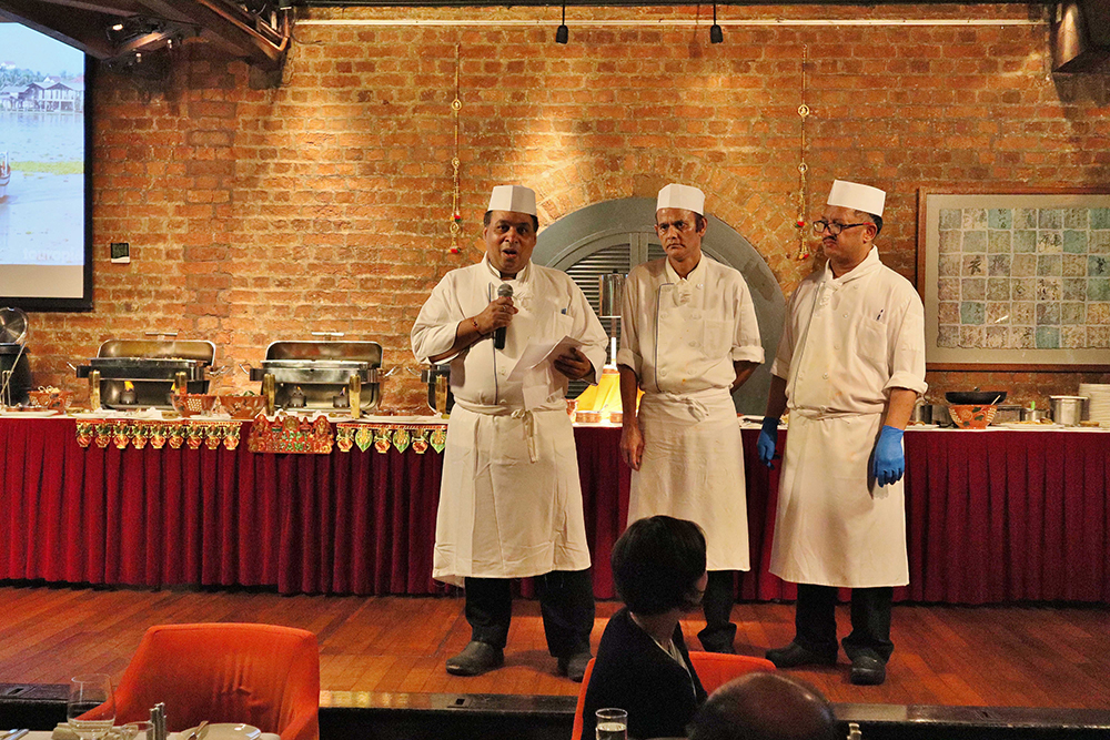 Chef Pardeep speaks at the FCC's Diwali celebration in October