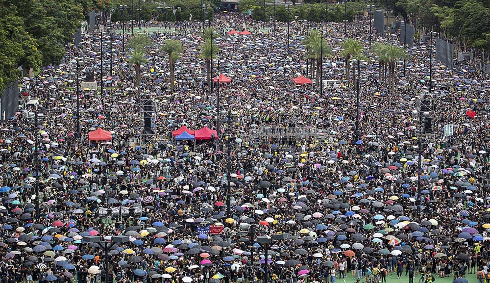August 18, 2019: The 'Two Million' march, Victoria Park, Causeway Bay