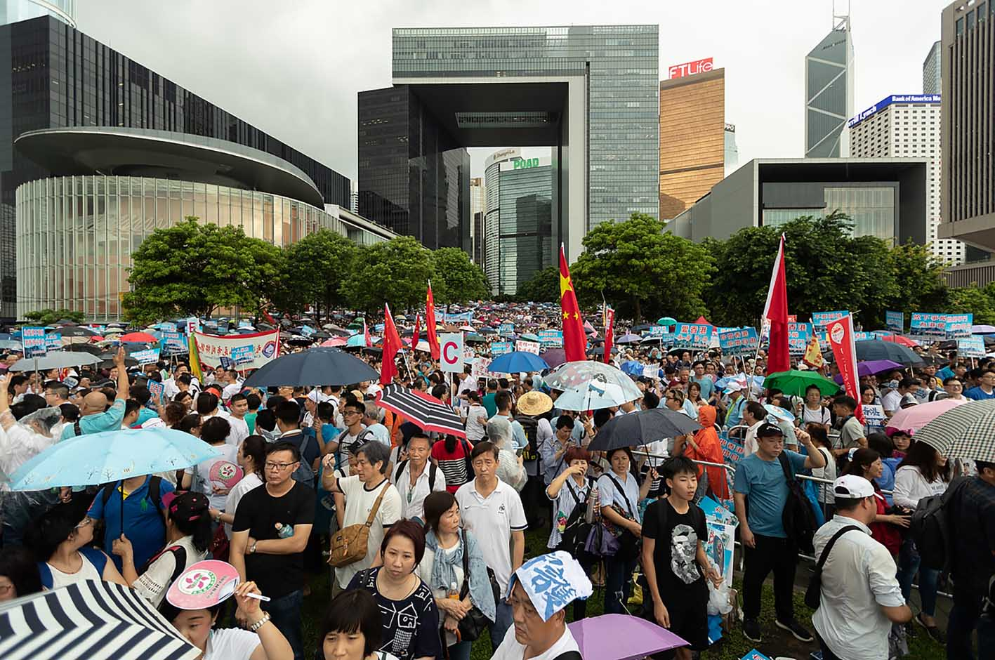 July 20, 2019: Pro-government demonstration at LegCo