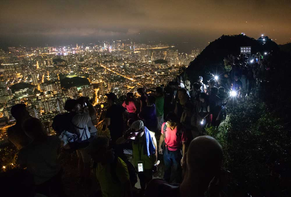 September 13, 2019: Autumn Festival climb and protest, Lion Rock