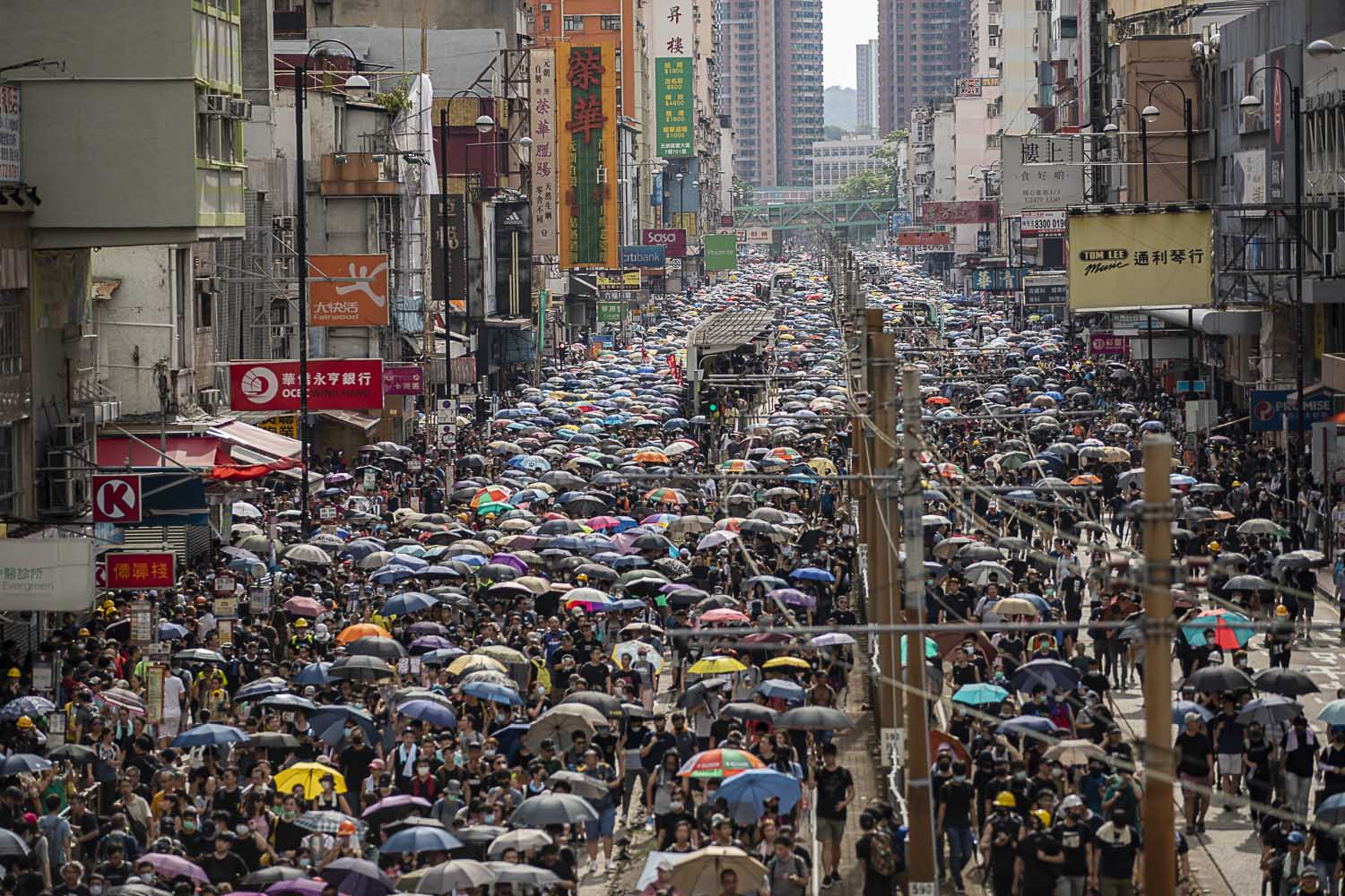 July 27, 2019: An estimated 288,000 people march through Yuen Long