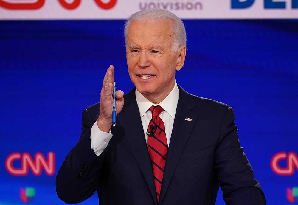 2020 Democratic presidential hopeful and former US vice president Joe Biden. (Photo by MANDEL NGAN / AFP)