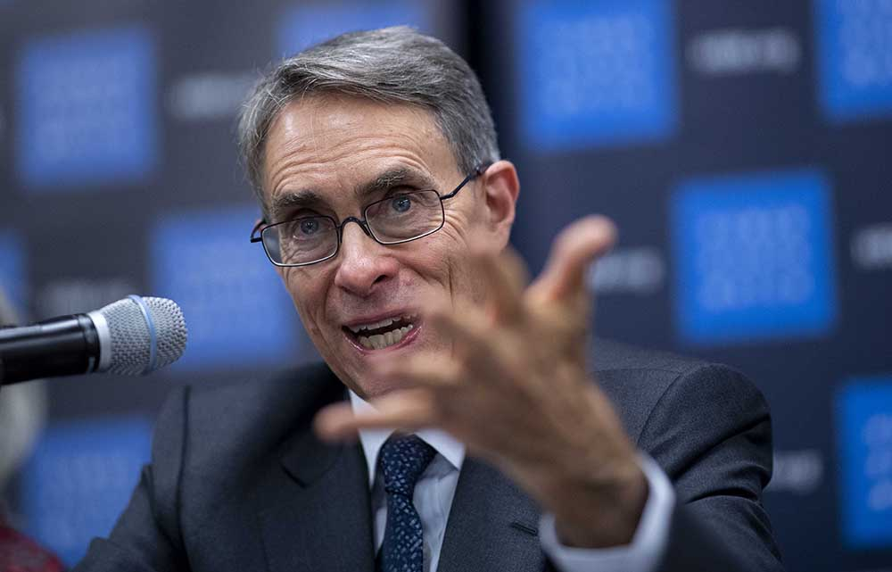 Human Rights Watch Executive Director Kenneth Roth launched their 2020 World Report at the UN in New York after he was refused entry to Hong Kong