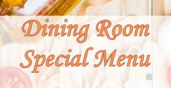 Dining Room Special Menu