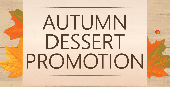 Autumn Dessert Menu