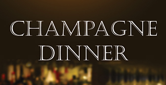 Sample the very best of Champagne at our pairing dinner on Oct 14