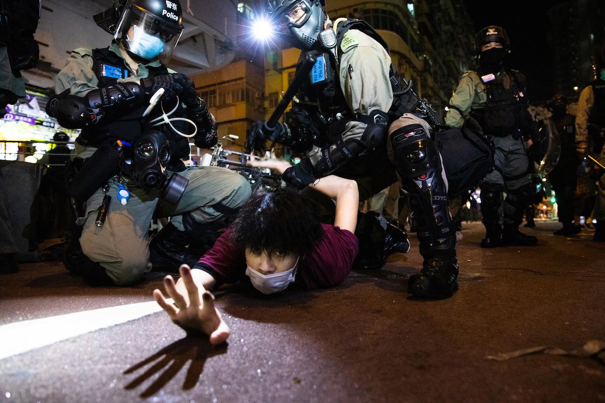 Protestor arrested Hong Kong